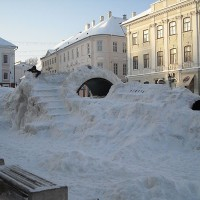 Kinderspielplatz in Tartu - im Winter - © Jana W.