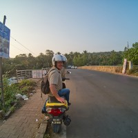 In Goa mit den Scootern unterwegs 2020