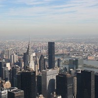 New York City Blick vom Empire State Building